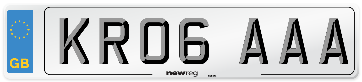 KR06 AAA Number Plate from New Reg