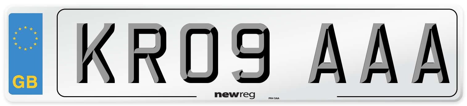 KR09 AAA Number Plate from New Reg