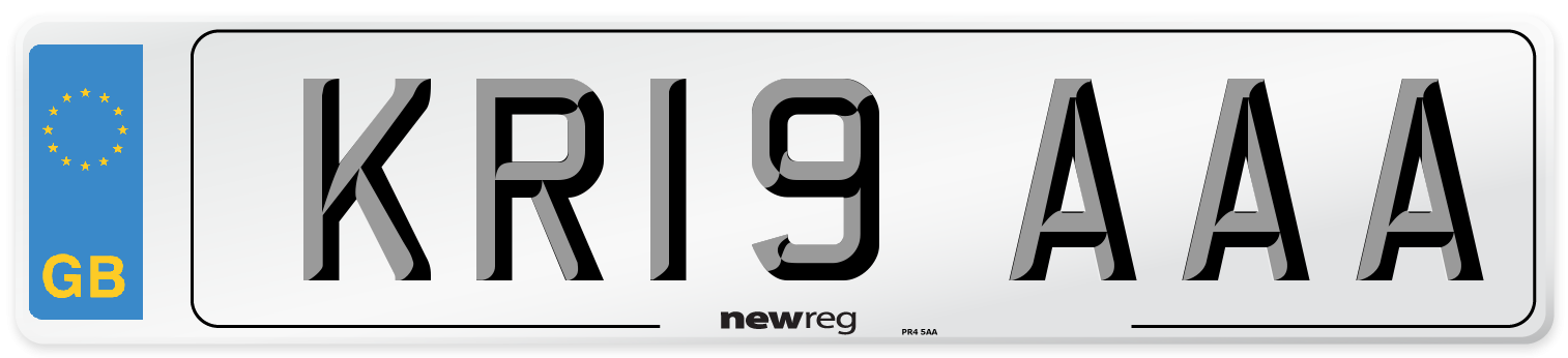 KR19 AAA Number Plate from New Reg