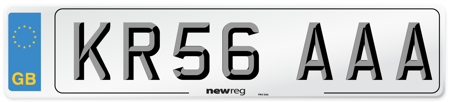 KR56 AAA Number Plate from New Reg