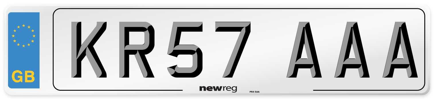 KR57 AAA Number Plate from New Reg