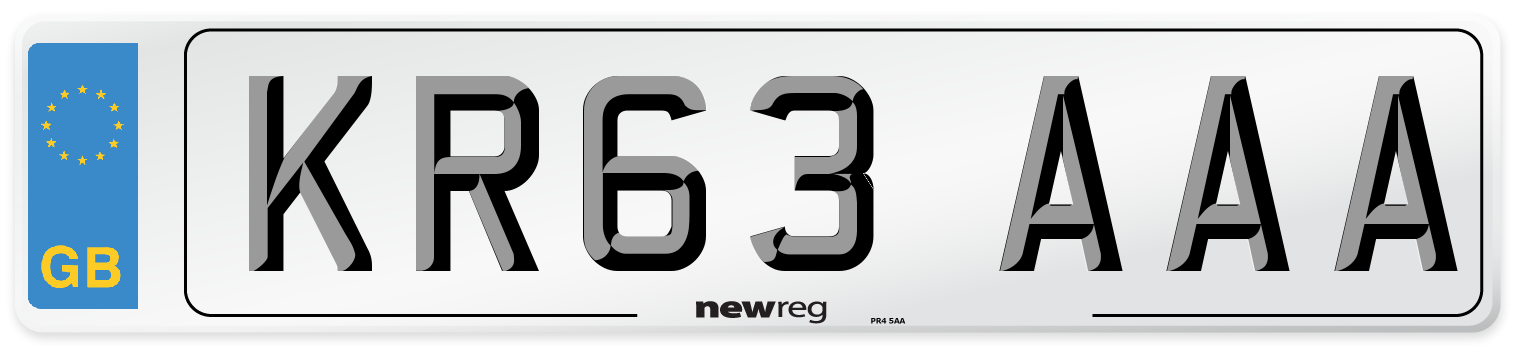 KR63 AAA Number Plate from New Reg