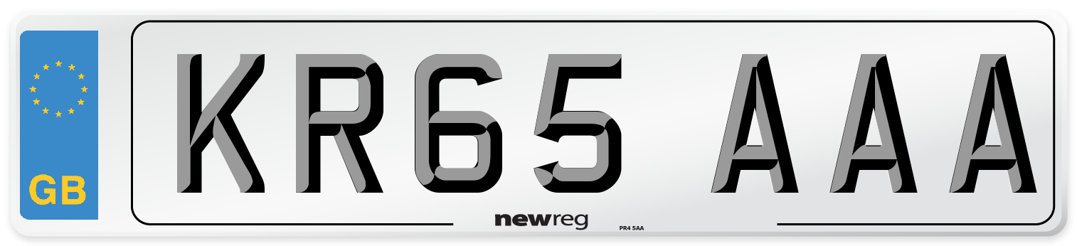 KR65 AAA Number Plate from New Reg