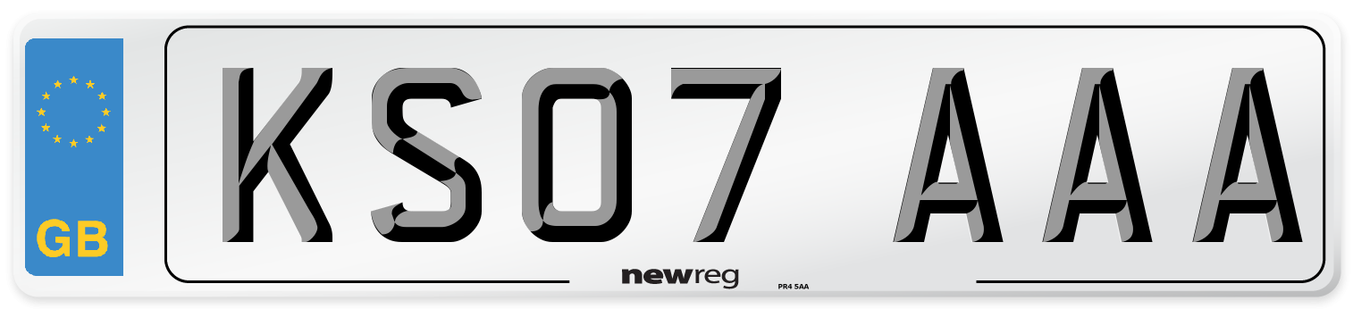 KS07 AAA Number Plate from New Reg