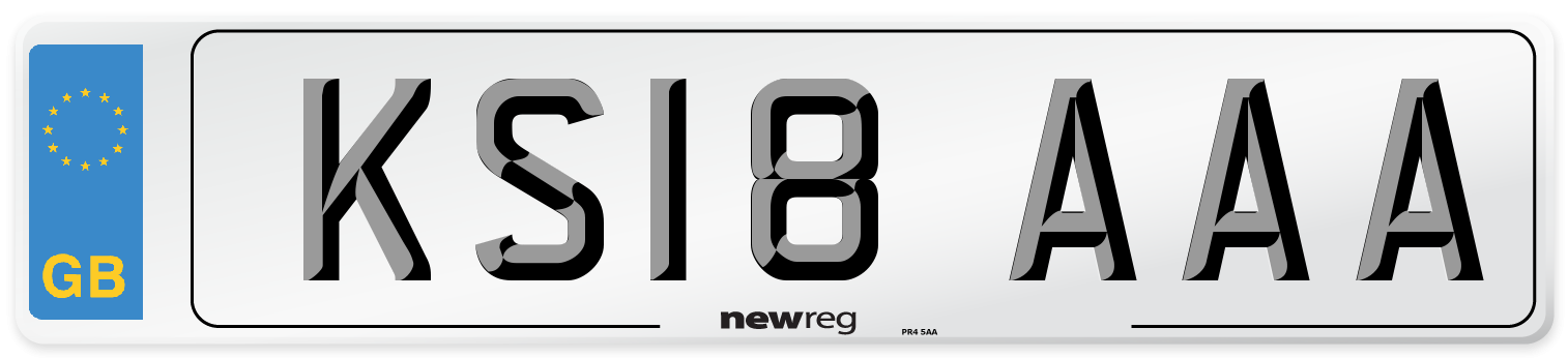 KS18 AAA Number Plate from New Reg