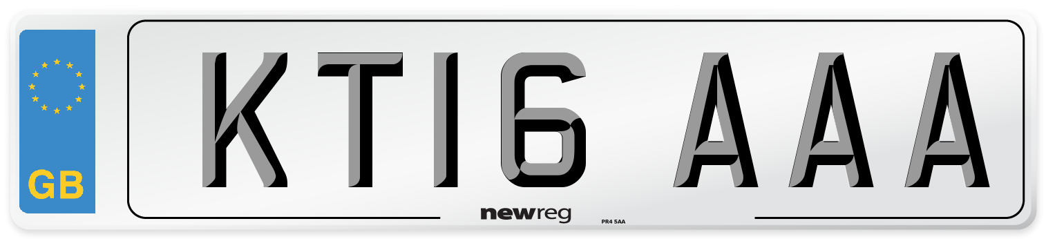 KT16 AAA Number Plate from New Reg