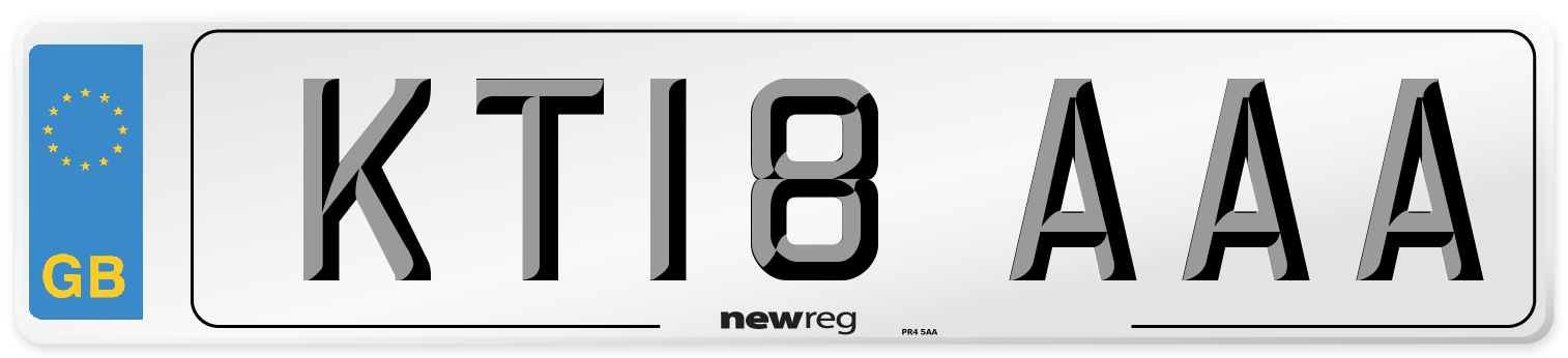 KT18 AAA Number Plate from New Reg