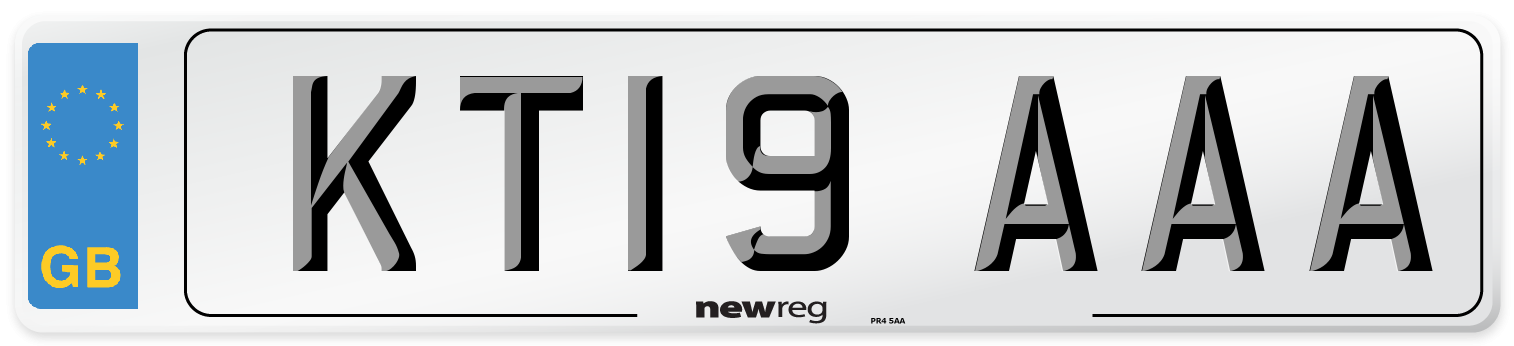 KT19 AAA Number Plate from New Reg