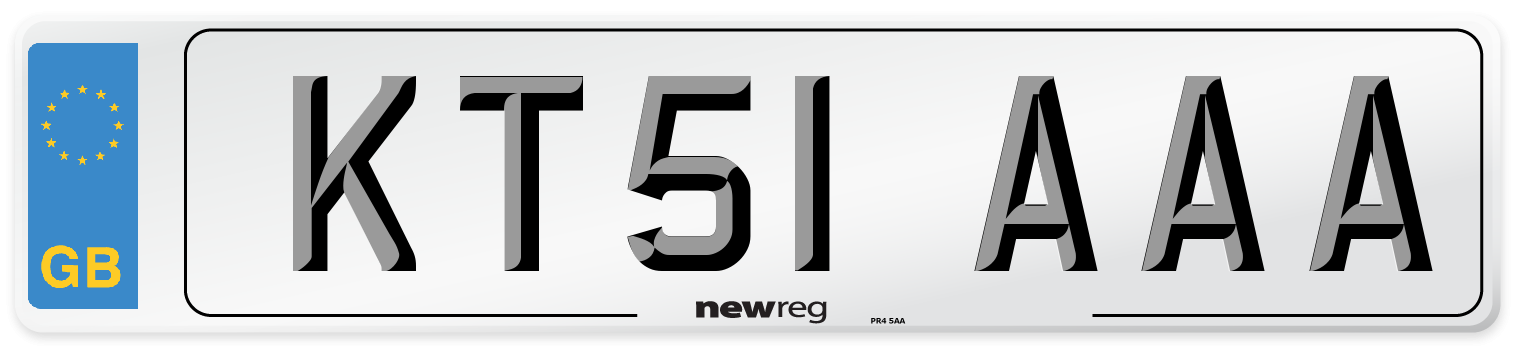 KT51 AAA Number Plate from New Reg