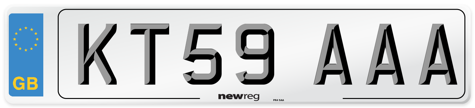KT59 AAA Number Plate from New Reg