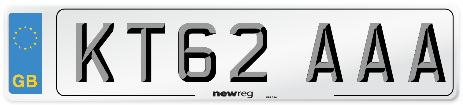 KT62 AAA Number Plate from New Reg