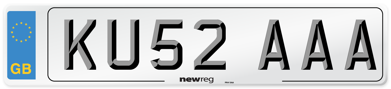 KU52 AAA Number Plate from New Reg