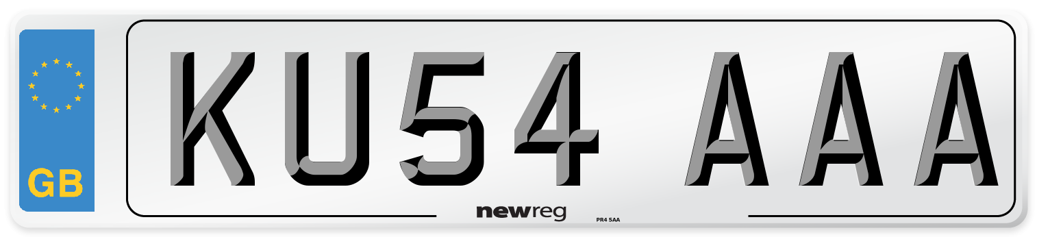 KU54 AAA Number Plate from New Reg