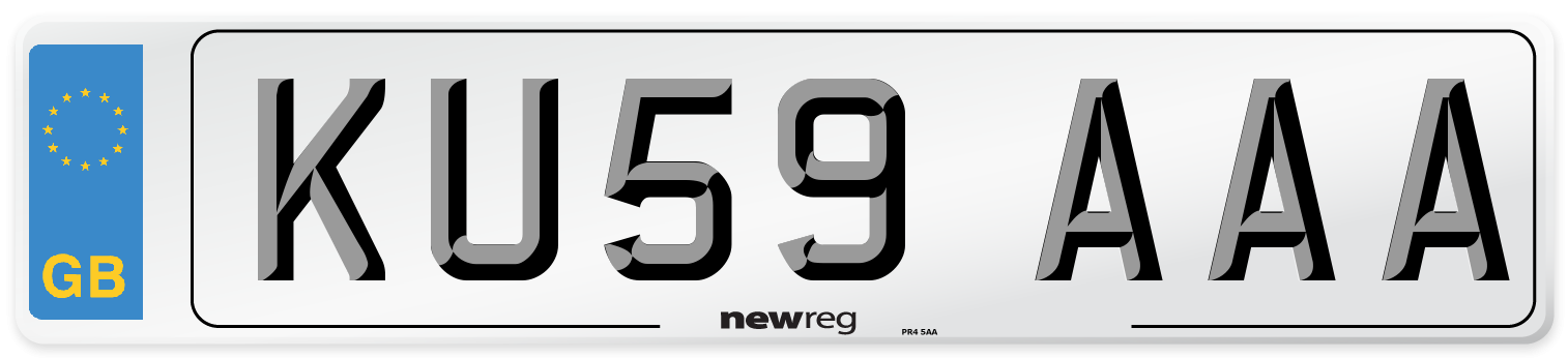 KU59 AAA Number Plate from New Reg