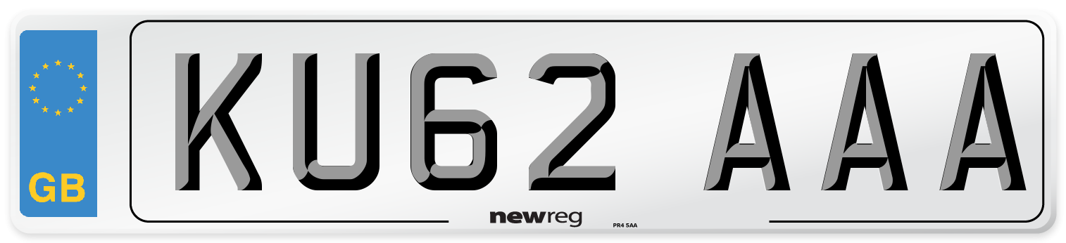 KU62 AAA Number Plate from New Reg