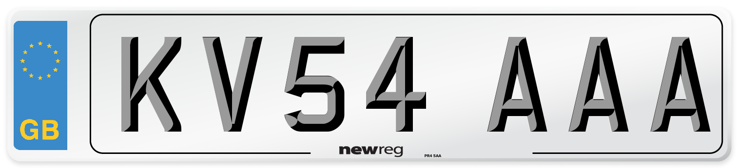 KV54 AAA Number Plate from New Reg