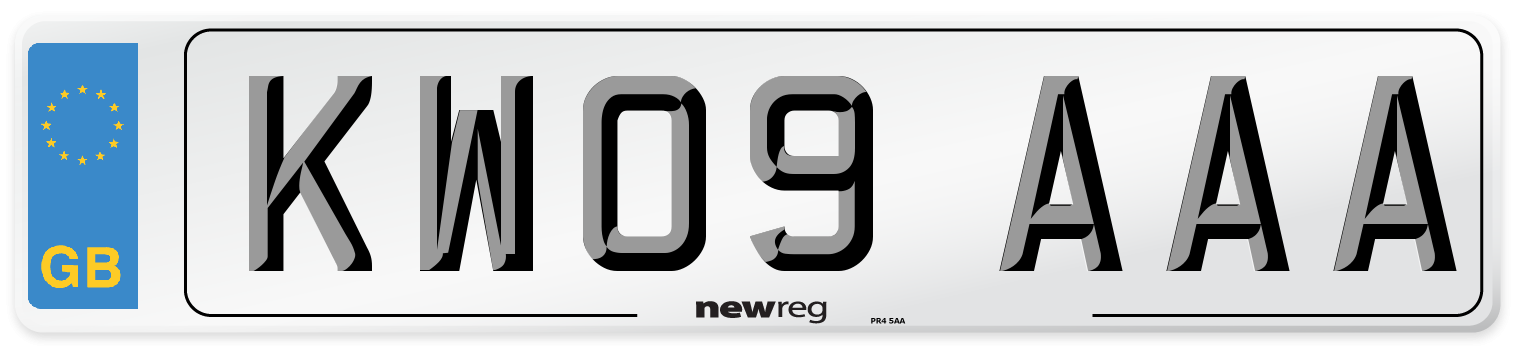 KW09 AAA Number Plate from New Reg