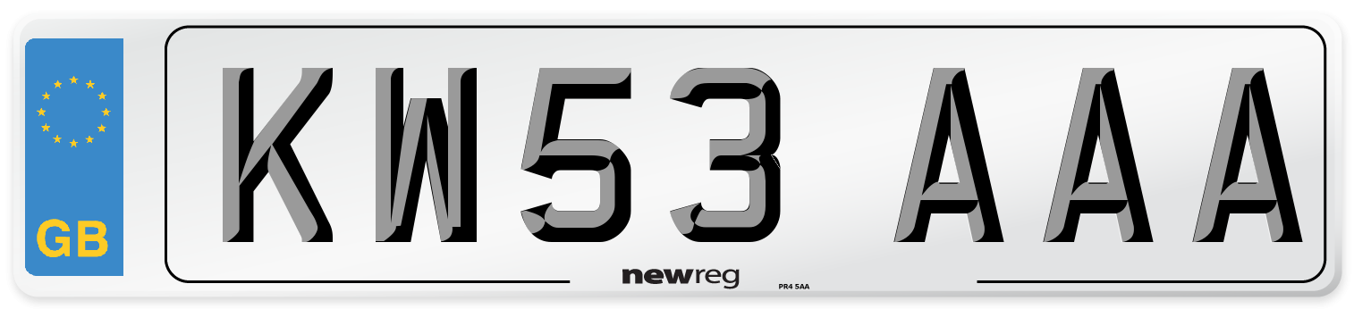 KW53 AAA Number Plate from New Reg