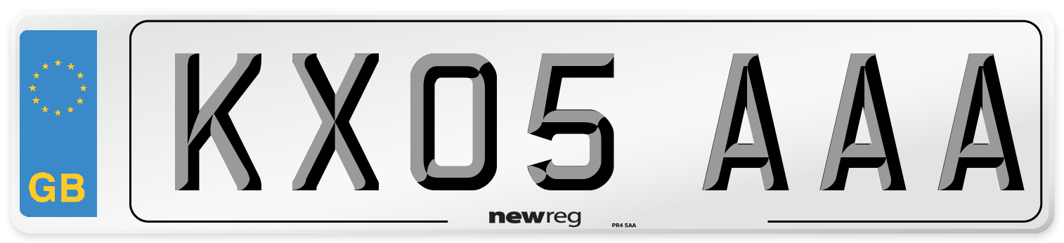 KX05 AAA Number Plate from New Reg