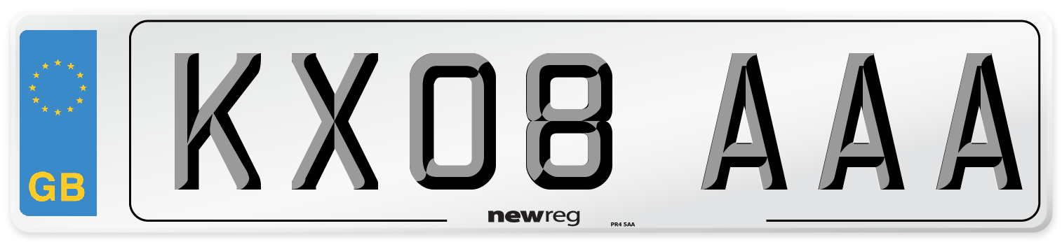 KX08 AAA Number Plate from New Reg