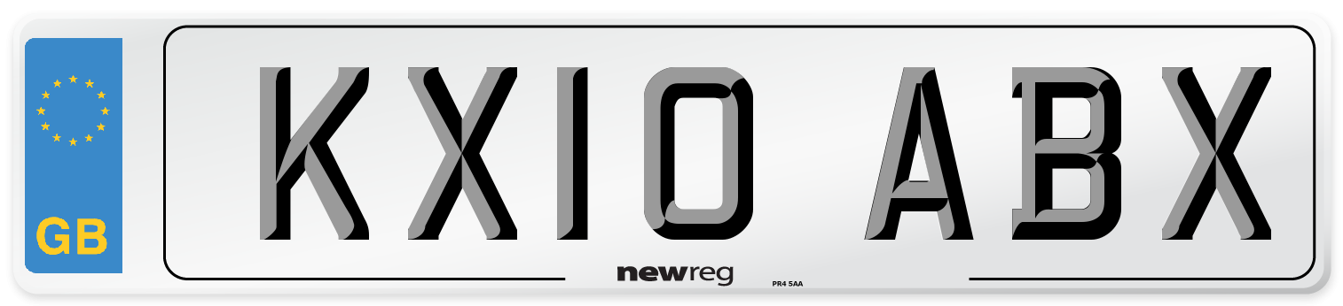 KX10 ABX Number Plate from New Reg