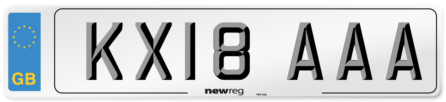 KX18 AAA Number Plate from New Reg