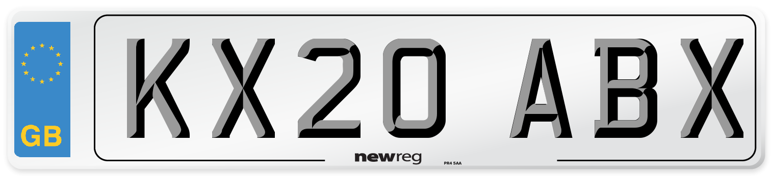 KX20 ABX Number Plate from New Reg