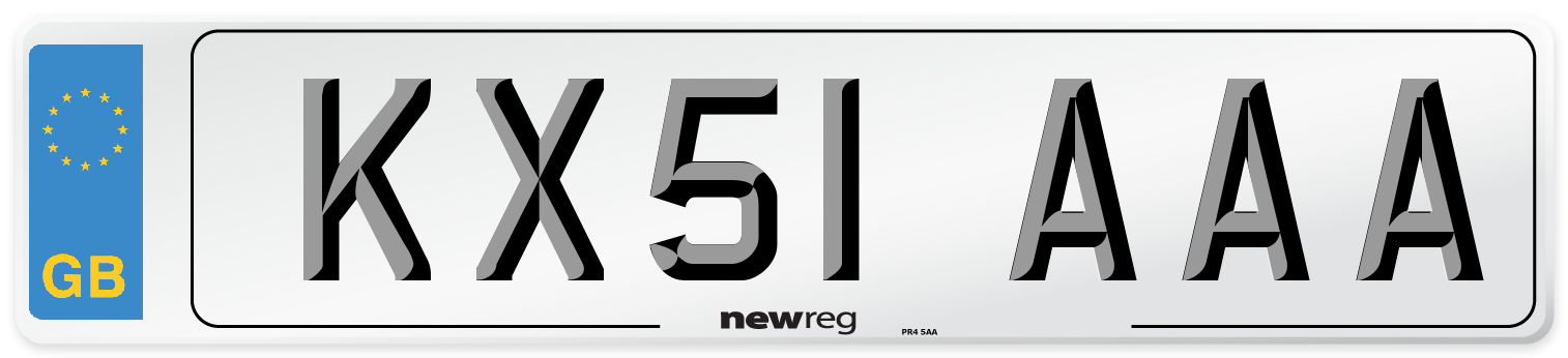KX51 AAA Number Plate from New Reg