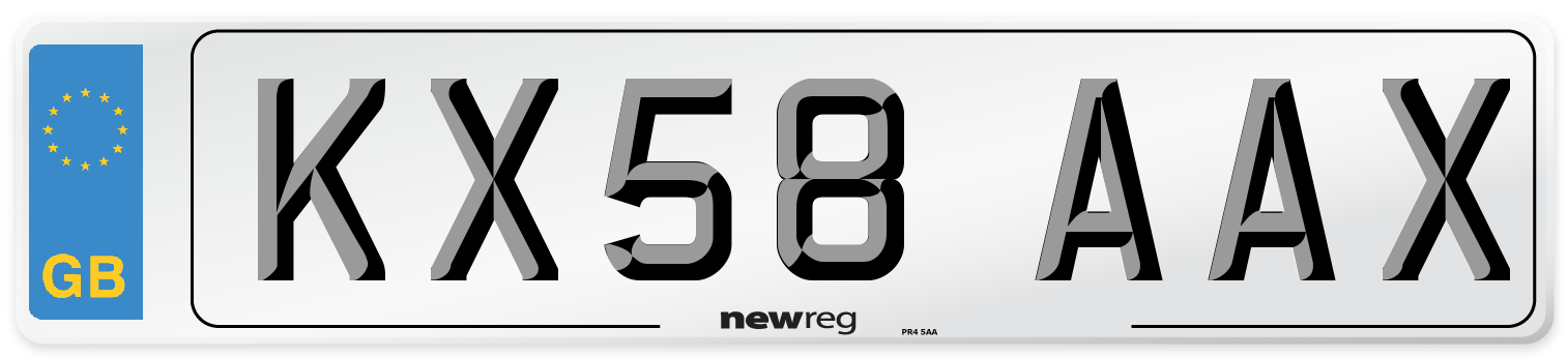 KX58 AAX Number Plate from New Reg