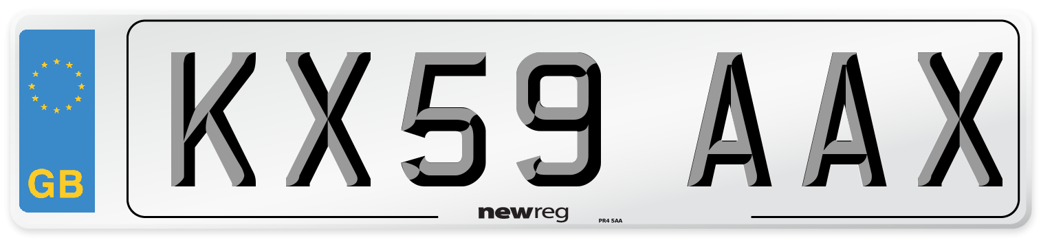 KX59 AAX Number Plate from New Reg