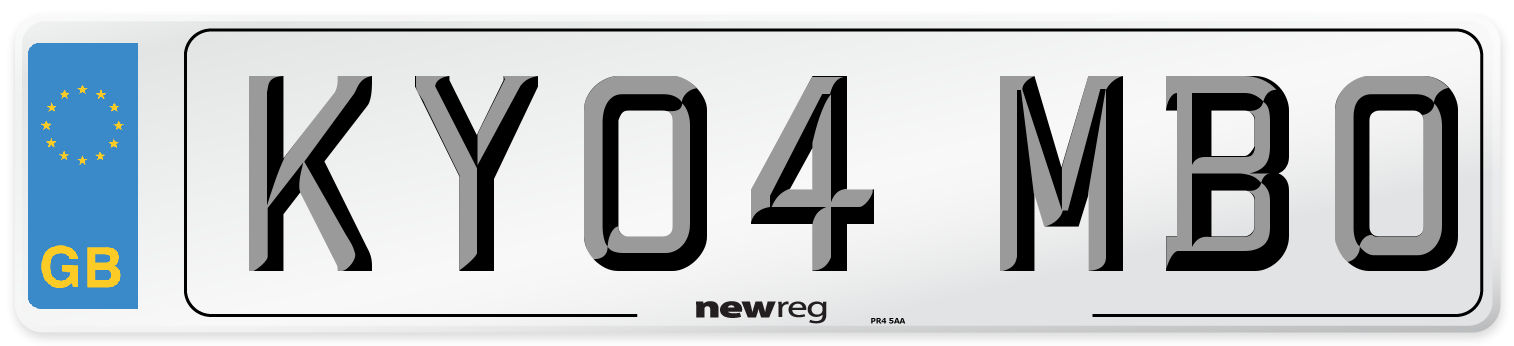 KY04 MBO Number Plate from New Reg