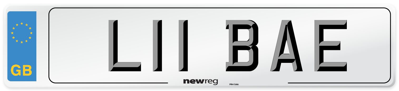 L11 BAE Number Plate from New Reg