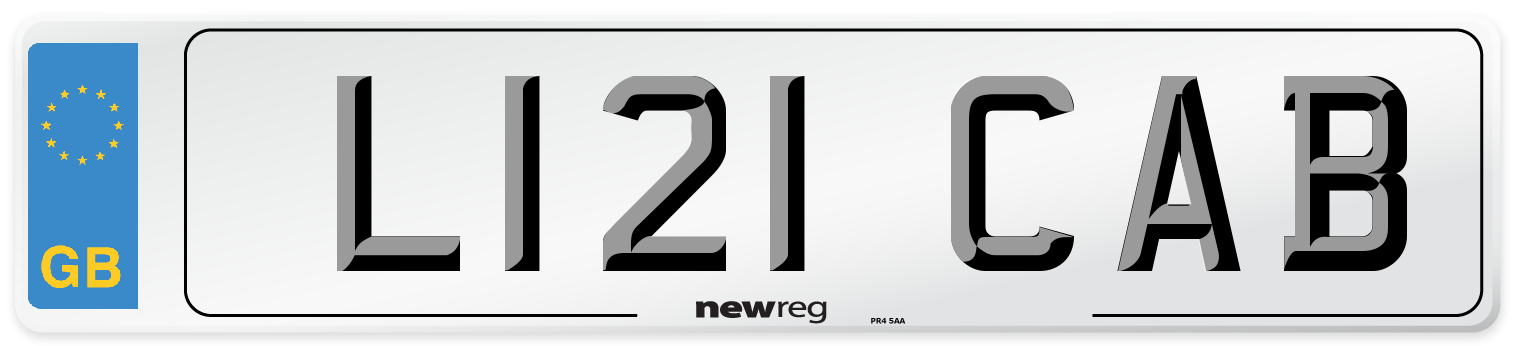 L121 CAB Number Plate from New Reg