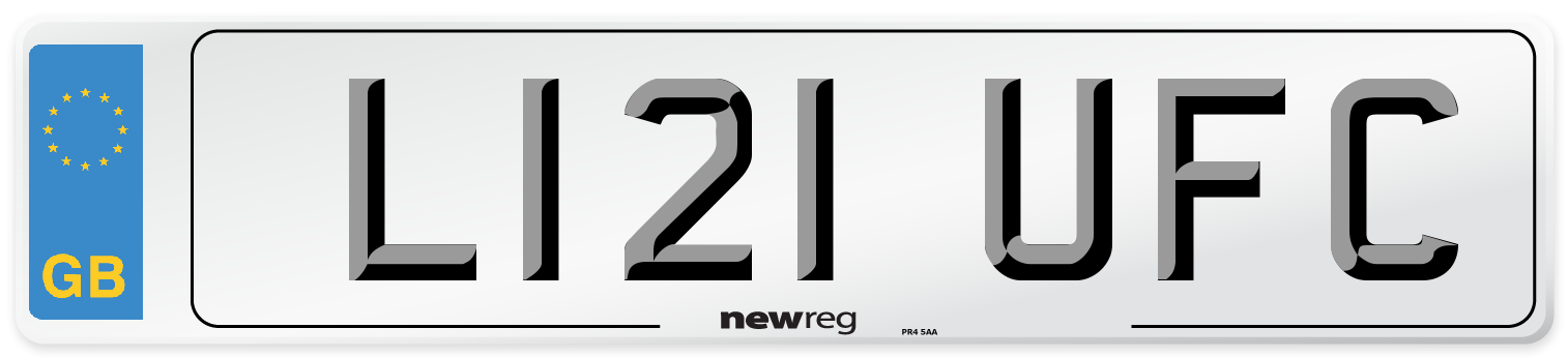L121 UFC Number Plate from New Reg