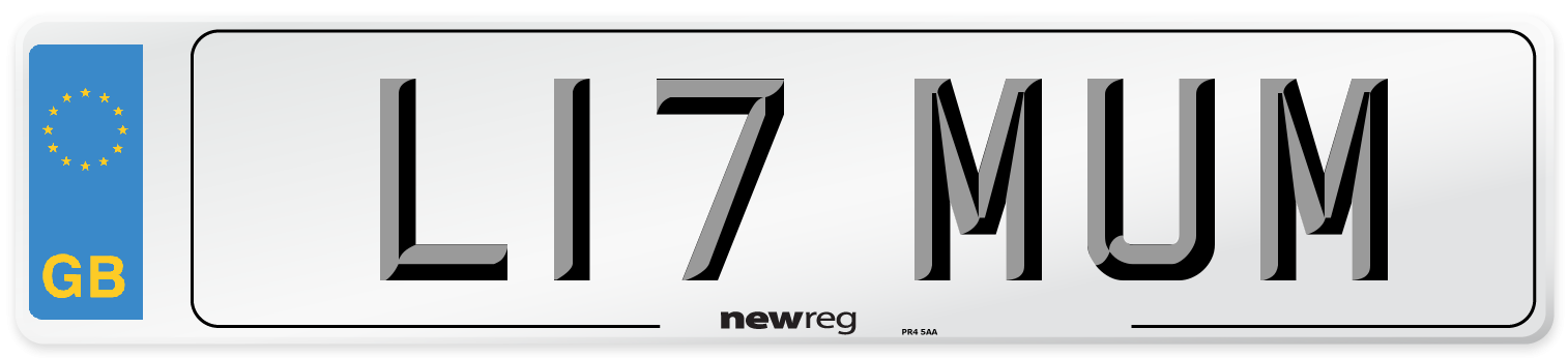 L17 MUM Number Plate from New Reg