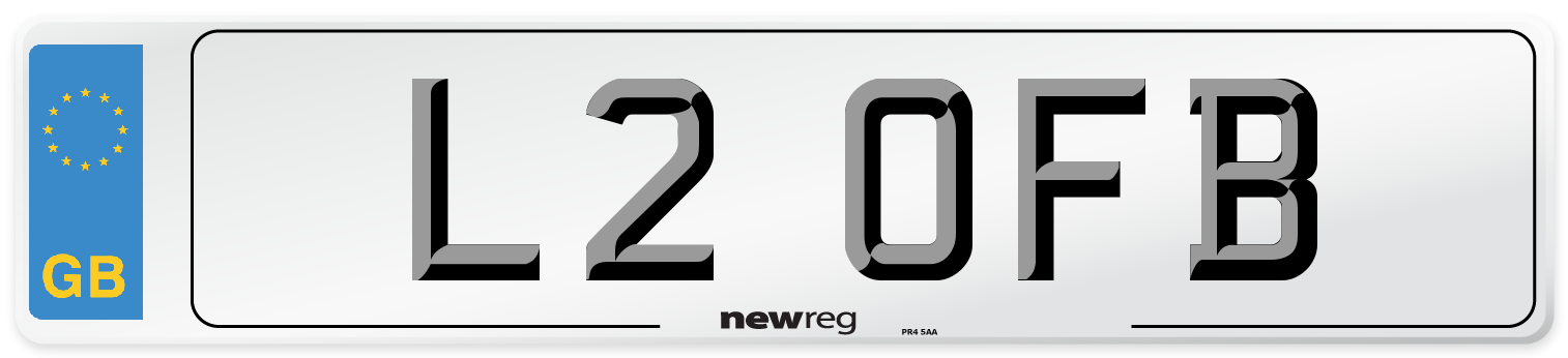 L2 OFB Number Plate from New Reg