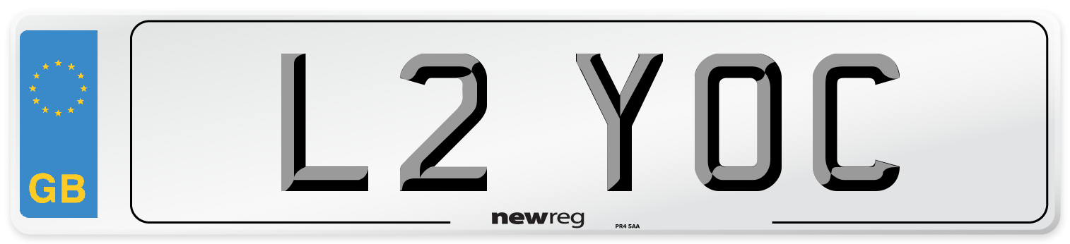 L2 YOC Number Plate from New Reg