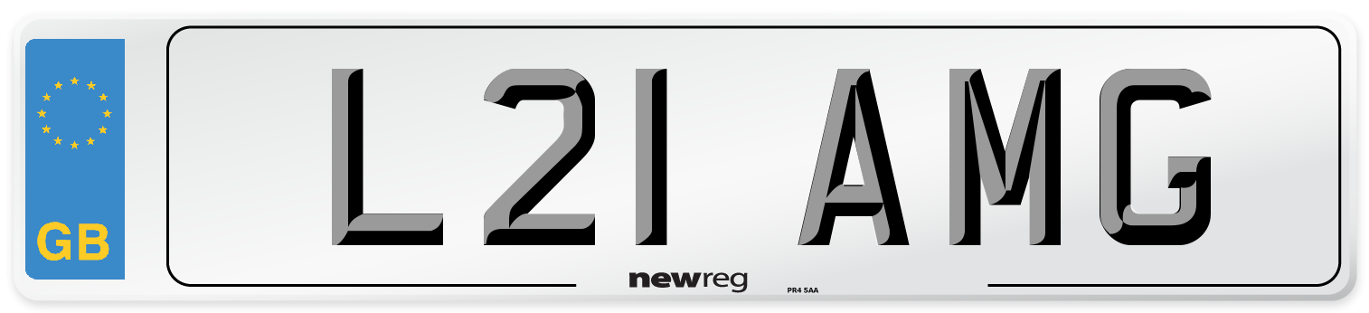 L21 AMG Number Plate from New Reg