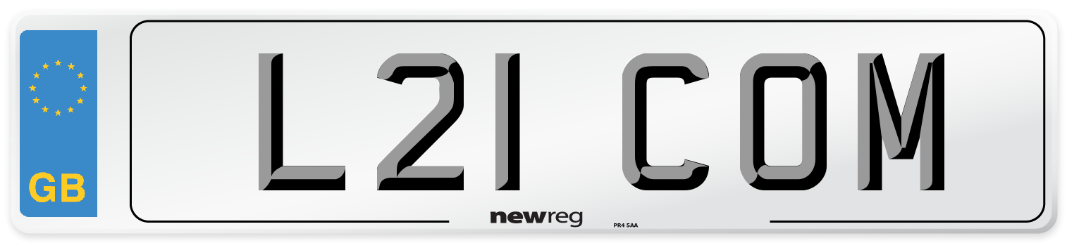 L21 COM Number Plate from New Reg