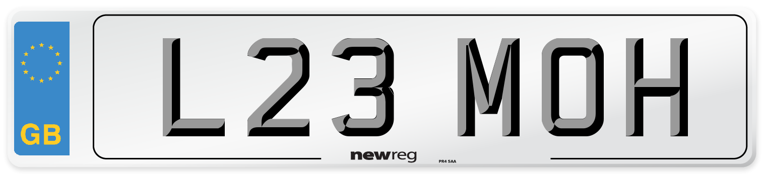 L23 MOH Number Plate from New Reg