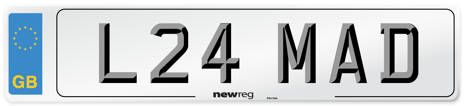 L24 MAD Number Plate from New Reg