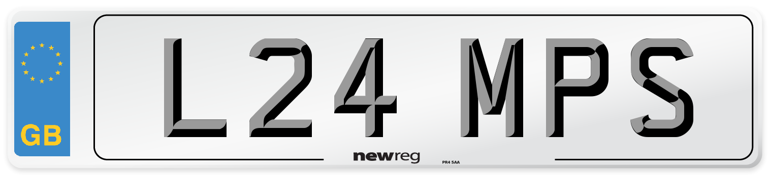 L24 MPS Number Plate from New Reg