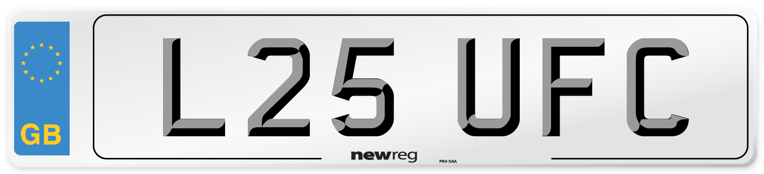 L25 UFC Number Plate from New Reg