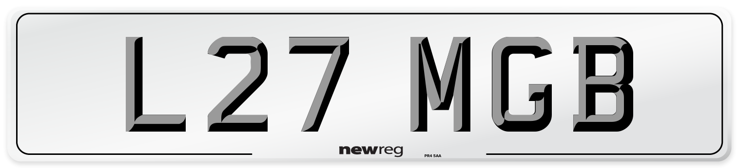 L27 MGB Number Plate from New Reg