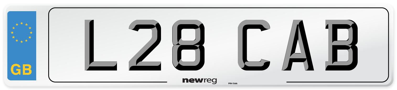 L28 CAB Number Plate from New Reg