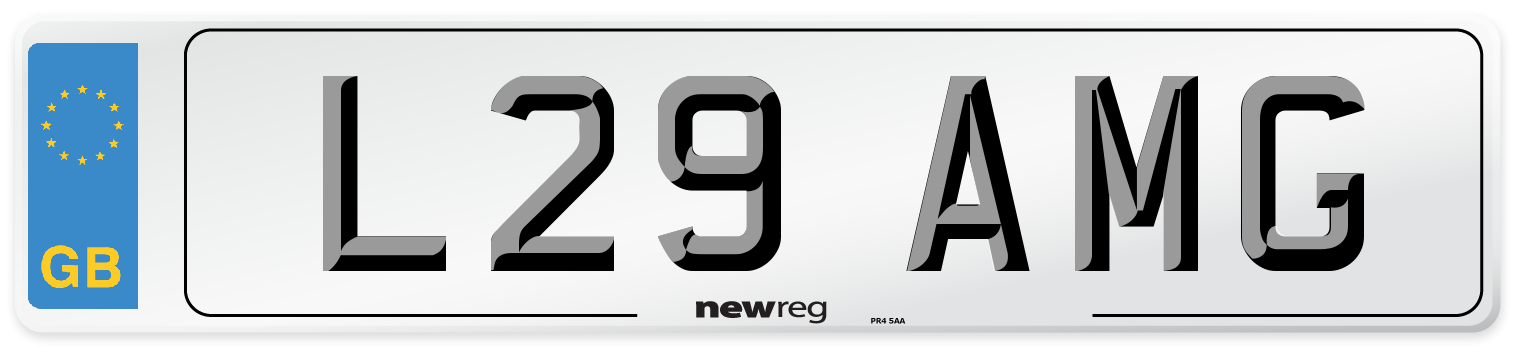 L29 AMG Number Plate from New Reg