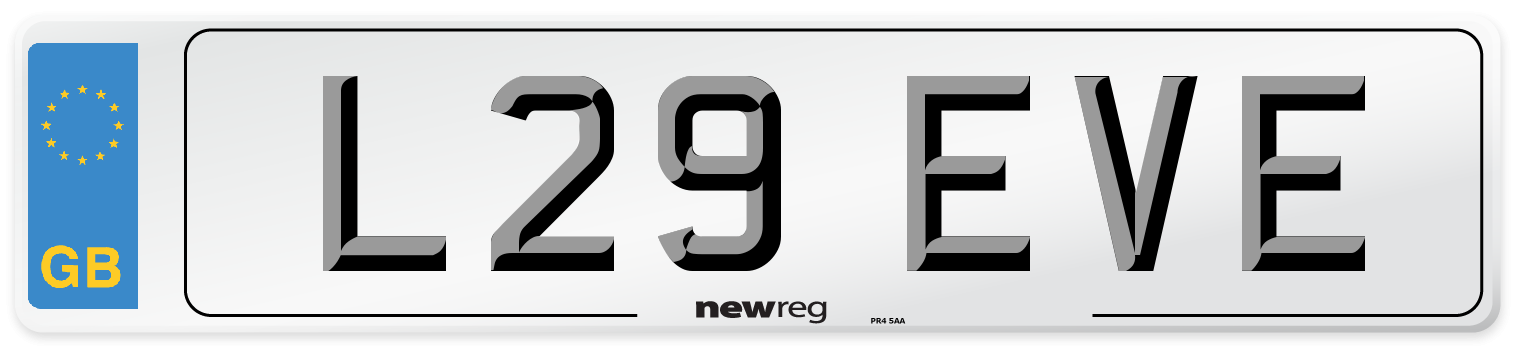L29 EVE Number Plate from New Reg