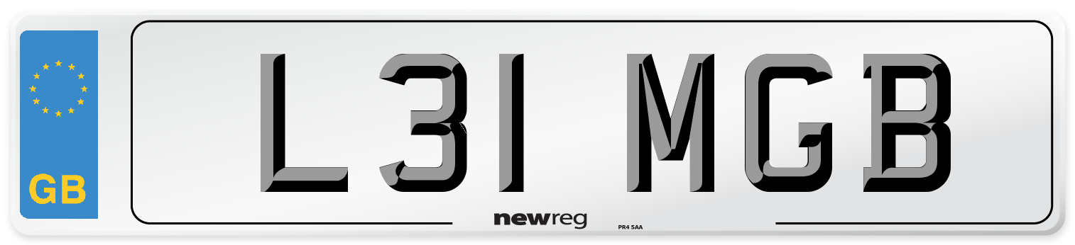 L31 MGB Number Plate from New Reg