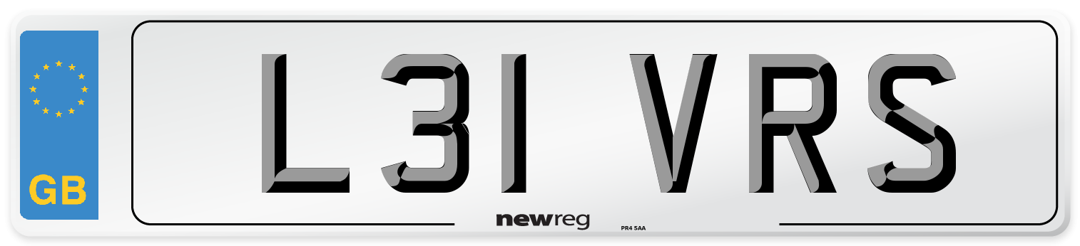 L31 VRS Number Plate from New Reg