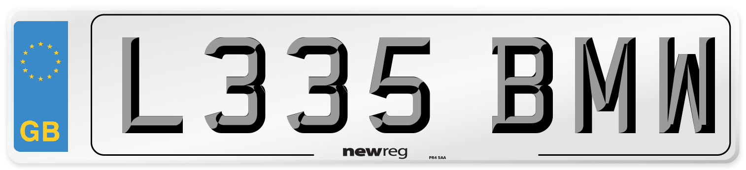 L335 BMW Number Plate from New Reg